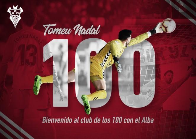 (Español) Tomeu Nadal se suma al 'Club de los 100' del Albacete Balompié